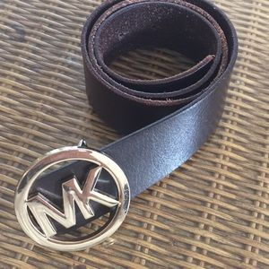 "MK belt brown 1.5"" by 36"""